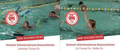 Wir suchen Trainer*Innen, Co-Trainer*Innen und Helfer*Innen für die Durchführung von Intensiv-Schwimmkursen in den Sommerferien
