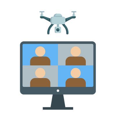 Video-Sprechstunde zum Thema Drohnenförderung
