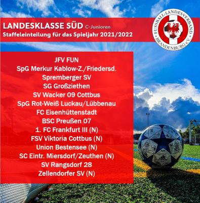 Staffeleinteilung im Junioren-Landesspielbetrieb