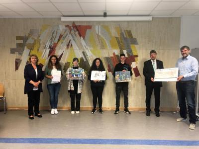"""Foto zur Meldung: Sieger des 51. Malwettbewerbs """"jugend creativ"""" werden an der Puricelli Realschule plus Rheinböllen geehrt"""