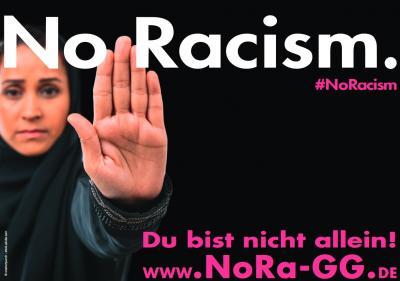Foto zur Meldung: #NoRacism im Landkreis GG
