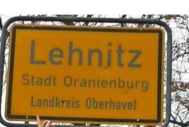 Ortsschild Lehnitz