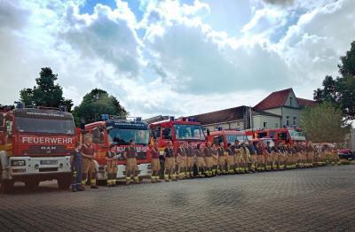 Ganztagsausbildung der Kameraden der Freiwilligen Feuerwehr der Gemeinde Schipkau