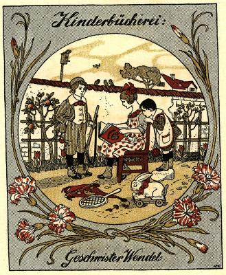 Ade, Mathilde - Exlibris für Geschwister Wendel - P1 - XV-9852 - Nelken
