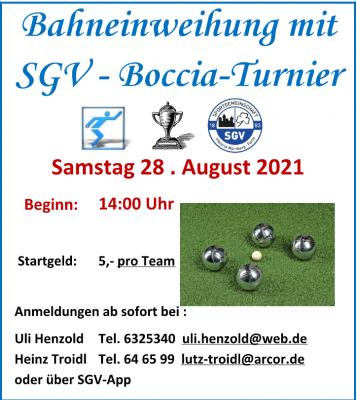 SGV Bocciaturnier 2021