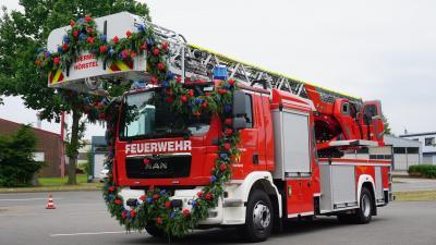 Drehleiter der Feuerwehr Hörstel feierlich eingeweiht