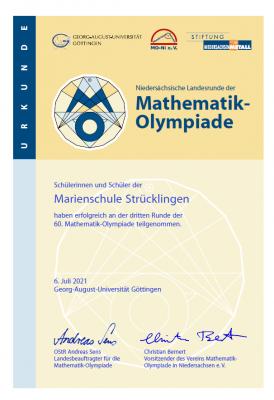 Mathe Olympiade 2021/22