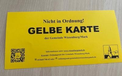 Gelbe Karte!