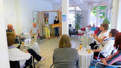 Foto zur Meldung: Café Mittendrin im Mehrgenerationenhaus wieder gut besucht