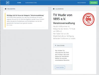 Online-Mitgliederportal freigeschaltet