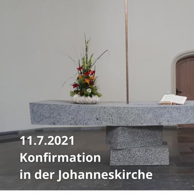 Konfirmation in der Johanneskirche