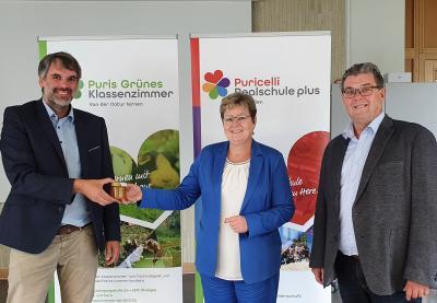 Staatssekretärin für Bildung, Frau Bettina Brück zu Besuch an der Puricelli Realschule plus