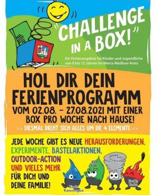 """Im Sommer 2021 findet wieder die beliebte Aktion """"Challenge in a box"""" statt."""