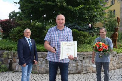 Goldene Auszeichnung für Handwerksmeister Wolfgang Borz aus Bad Klosterlausnitz