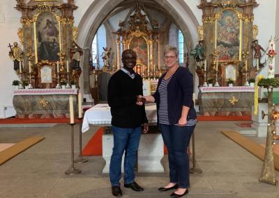 Begrüßung Pfarrer Francis Enyam