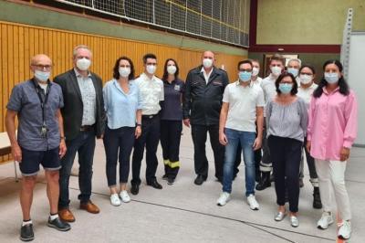Unterstützer der zweiten Vor-Ort-Impfaktion in Meckesheim