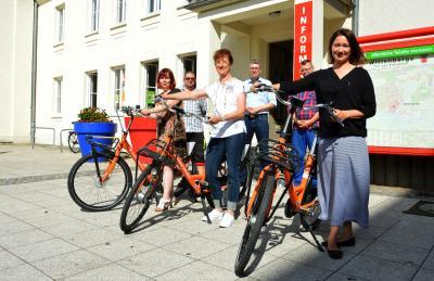 Seit Donnerstag können die Fahrräder auch an der Touristinformation und an weiteren Standorten in Wittenberge ausgeliehen werden I Foto: Martin Ferch