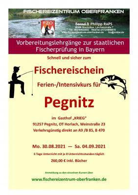 Fischerlehrgang Ferien-/ Intensivkurs PEGNITZ 2021