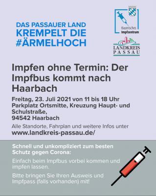 Impfbus kommt nach Haarbach