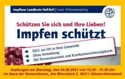 Impfung am 24.08.2021 in Alheim