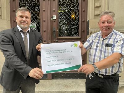 Landrat Herr Ralf Reinhardt und ehemaliger Bürgermeister der Stadt Kyritz Herr Hans-Joachim Winter