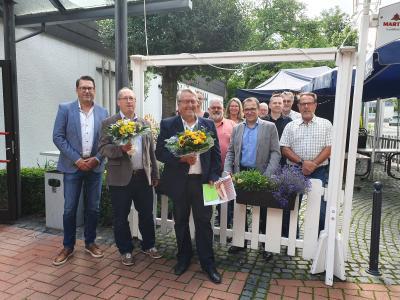 Wilfried Eckart und Dieter Semdner aus dem Kreis der Hauptamtsleiter verabschiedet
