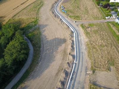 Die Bauarbeiten im Neubaugebiet schreiten gut voran