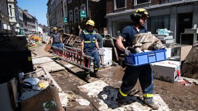 Das Technische Hilfswerk (THW) Brandenburg schickte Helfer ins Katastrophengebiet. Quelle: MOZ/Marius Becker(dpa)