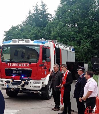 Schlüsselübergabe LF20 für die Freiwillige Feuerwehr Stadt Falkenstein/Harz, OFW Meisdorf