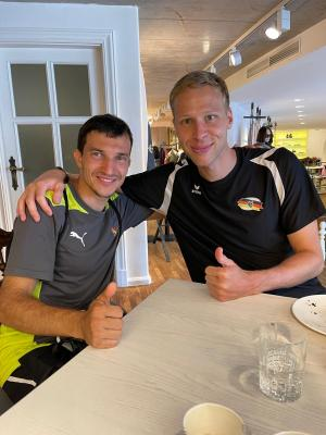 Sergei Roskop und Alexander Bley beim Kaderlehrgang