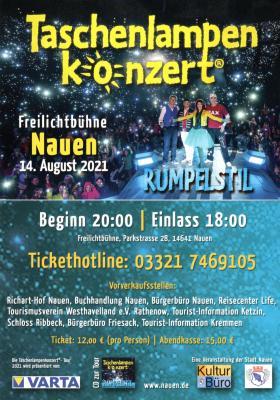 Taschenlampen-Konzert in Nauen