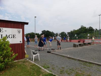 TSV Kirchdorf: Unter dem Motto 'Wir starten wieder durch !!!' haben sich am Samstag den 24. Juli die 60+ Mitglieder ...