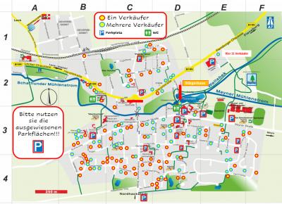 Foto zur Meldung: Dorfflohmarkt - Lageplan