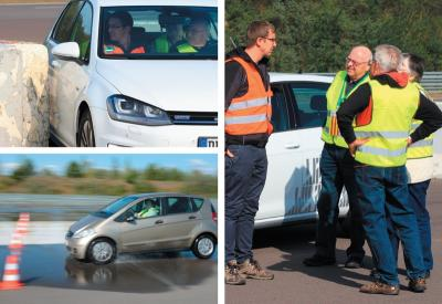 Fahrsicherheitstraining (Foto: Polizei Brandenburg)