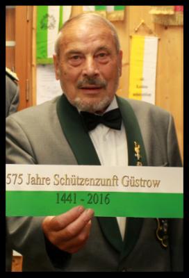 Ehrenvorsitzender der Schützenzunft Güstrow  1441 e.V. Wolfgang Rühmling verstorben