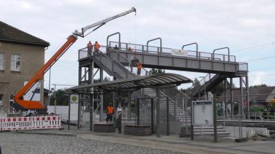 Foto zur Meldung: Unterschriftenaktion zur Nachrüstung von Personenaufzügen am Bahnhof Lauchhammer