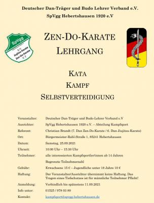 Zen-Do-Karate Lehrgang