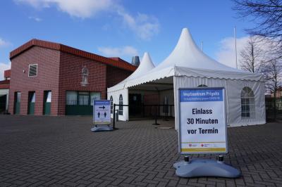 Im Perleberger Impfzentrum I Foto: Landkreis Prignitz
