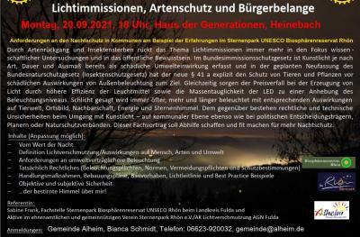 Lichtimmissionen, Artenschutz und Bürgerbelange
