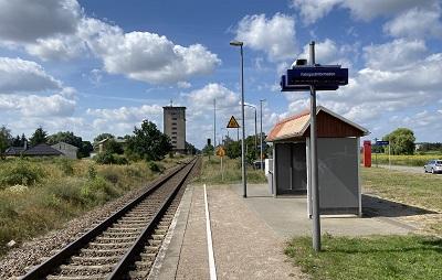 Informationsveranstaltung der DB Netz AG am 17. August 2021 in Casekow, Bildrecht liegt beim Amt Gartz (Oder)