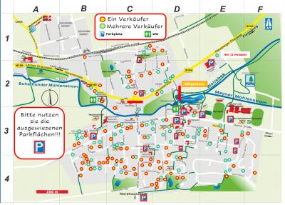 Foto zur Meldung: Dorfflohmarkt -> Dorfplan mit 156 Verkaufsstände