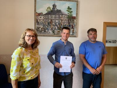 v.l.n.r.: Petra Wißemborski, Jonas Lindner, Thorsten Rinker