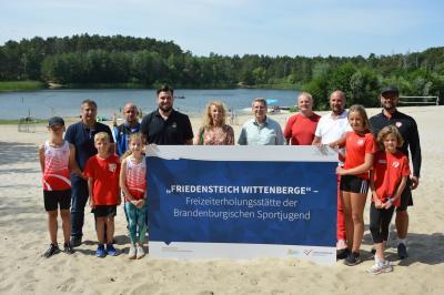"""Der Wittenberger Friedensteich ist jetzt """"Freizeiterholungsstätte der Brandenburgischen Sportjugend""""  I Foto: Martin Ferch"""