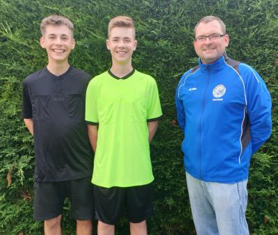 Foto zur Meldung: Neue Jugendschiedsrichter beim TSV Eggersdorf