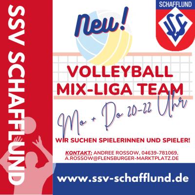 Foto zur Meldung: Neu beim SSV Schafflund: Mix-Volleyball-Team