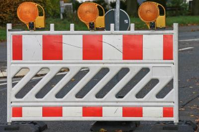 Straßensperrung Stolzenhain a. d. R.