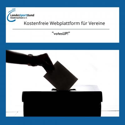 """Kostenfreie Nutzung der Webplattform """"votesUP!"""" für Online-Abstimmungen"""