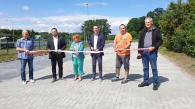Foto zur Meldung: Eröffnung des neuen Parkplatzes an der Post / Sportplatz