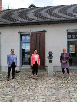 Foto zur Meldung: Hoher Besuch in Perleberg
