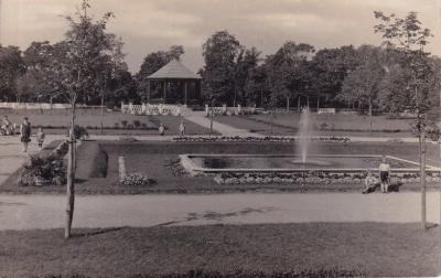 historische Postkarte vom Kurpark